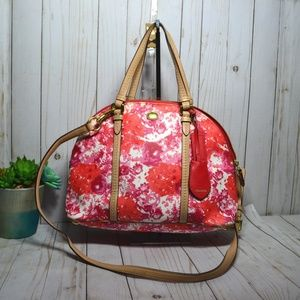 Rare Coach F31341 Peyton Floral Cora Domed Satchel